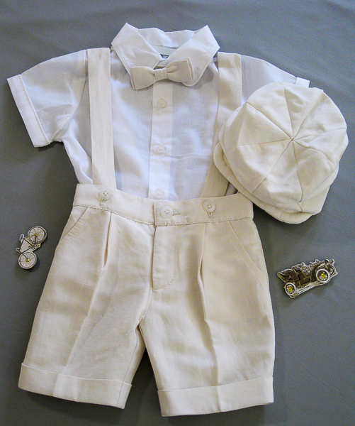 f6b05c49c Boys Linen Short Set with Suspenders - Vada Creations